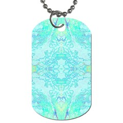 Green Tie Dye Kaleidoscope Opaque Color Dog Tag (Two Sides)