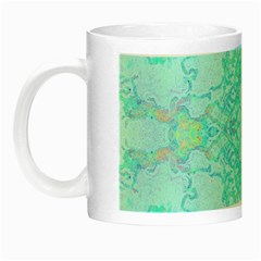Green Tie Dye Kaleidoscope Opaque Color Night Luminous Mugs