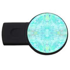 Green Tie Dye Kaleidoscope Opaque Color USB Flash Drive Round (4 GB)