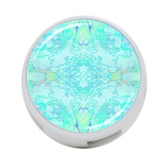Green Tie Dye Kaleidoscope Opaque Color 4-Port USB Hub (Two Sides)