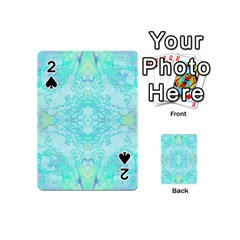 Green Tie Dye Kaleidoscope Opaque Color Playing Cards 54 (Mini)