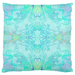 Green Tie Dye Kaleidoscope Opaque Color Large Cushion Case (One Side)