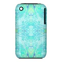 Green Tie Dye Kaleidoscope Opaque Color iPhone 3S/3GS