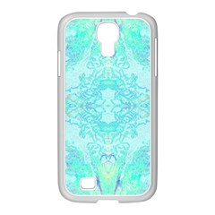 Green Tie Dye Kaleidoscope Opaque Color Samsung GALAXY S4 I9500/ I9505 Case (White)