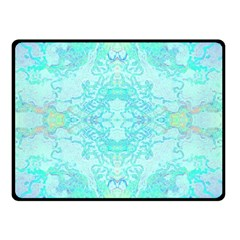 Green Tie Dye Kaleidoscope Opaque Color Double Sided Fleece Blanket (Small)