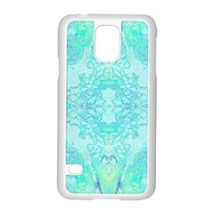 Green Tie Dye Kaleidoscope Opaque Color Samsung Galaxy S5 Case (White)
