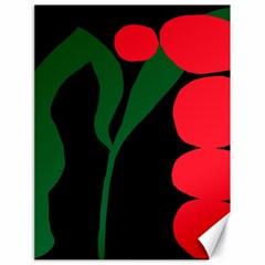 Illustrators Portraits Plants Green Red Polka Dots Canvas 18  x 24