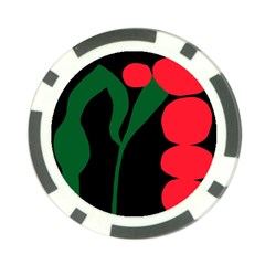 Illustrators Portraits Plants Green Red Polka Dots Poker Chip Card Guard (10 Pack)