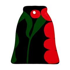 Illustrators Portraits Plants Green Red Polka Dots Ornament (Bell)