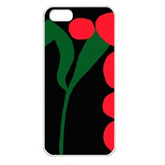Illustrators Portraits Plants Green Red Polka Dots Apple iPhone 5 Seamless Case (White)