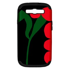 Illustrators Portraits Plants Green Red Polka Dots Samsung Galaxy S III Hardshell Case (PC+Silicone)