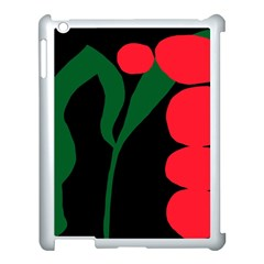 Illustrators Portraits Plants Green Red Polka Dots Apple iPad 3/4 Case (White)