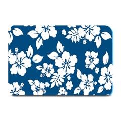 Hibiscus Flowers Seamless Blue White Hawaiian Plate Mats