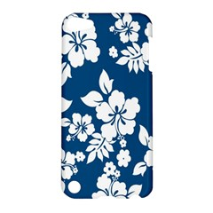 Hibiscus Flowers Seamless Blue White Hawaiian Apple iPod Touch 5 Hardshell Case
