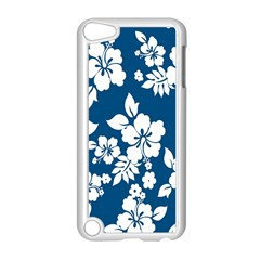 Hibiscus Flowers Seamless Blue White Hawaiian Apple iPod Touch 5 Case (White)