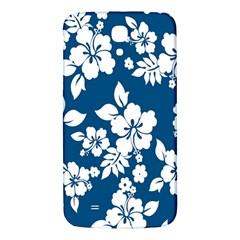 Hibiscus Flowers Seamless Blue White Hawaiian Samsung Galaxy Mega I9200 Hardshell Back Case
