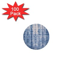 Indigo Grey Tie Dye Kaleidoscope Opaque Color 1  Mini Buttons (100 pack)