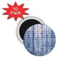 Indigo Grey Tie Dye Kaleidoscope Opaque Color 1.75  Magnets (10 pack)