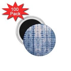 Indigo Grey Tie Dye Kaleidoscope Opaque Color 1.75  Magnets (100 pack)