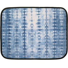 Indigo Grey Tie Dye Kaleidoscope Opaque Color Double Sided Fleece Blanket (mini)