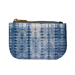 Indigo Grey Tie Dye Kaleidoscope Opaque Color Mini Coin Purses