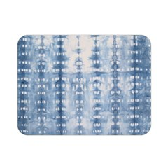 Indigo Grey Tie Dye Kaleidoscope Opaque Color Double Sided Flano Blanket (Mini)