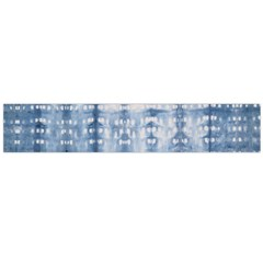 Indigo Grey Tie Dye Kaleidoscope Opaque Color Flano Scarf (Large)