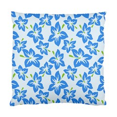 Hibiscus Flowers Seamless Blue Standard Cushion Case (One Side)
