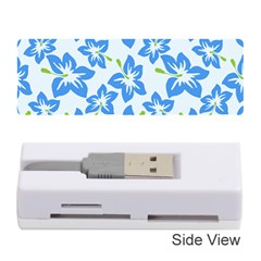 Hibiscus Flowers Seamless Blue Memory Card Reader (Stick)