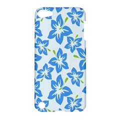 Hibiscus Flowers Seamless Blue Apple iPod Touch 5 Hardshell Case