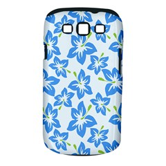 Hibiscus Flowers Seamless Blue Samsung Galaxy S III Classic Hardshell Case (PC+Silicone)