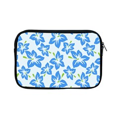 Hibiscus Flowers Seamless Blue Apple iPad Mini Zipper Cases