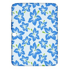 Hibiscus Flowers Seamless Blue Samsung Galaxy Tab 3 (10 1 ) P5200 Hardshell Case