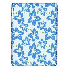 Hibiscus Flowers Seamless Blue iPad Air Hardshell Cases