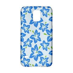 Hibiscus Flowers Seamless Blue Samsung Galaxy S5 Hardshell Case
