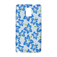 Hibiscus Flowers Seamless Blue Samsung Galaxy Note 4 Hardshell Case