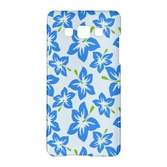 Hibiscus Flowers Seamless Blue Samsung Galaxy A5 Hardshell Case