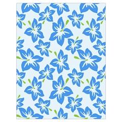 Hibiscus Flowers Seamless Blue Drawstring Bag (Large)