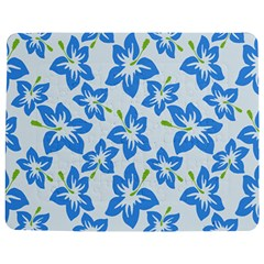 Hibiscus Flowers Seamless Blue Jigsaw Puzzle Photo Stand (Rectangular)