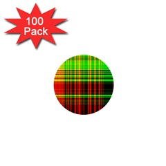 Line Light Neon Red Green 1  Mini Buttons (100 pack)