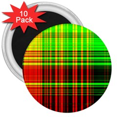 Line Light Neon Red Green 3  Magnets (10 pack)
