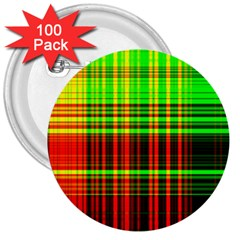 Line Light Neon Red Green 3  Buttons (100 pack)
