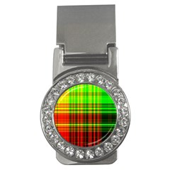 Line Light Neon Red Green Money Clips (CZ)