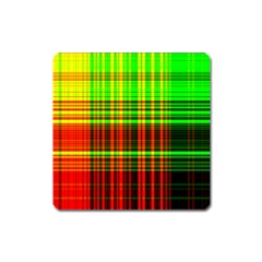 Line Light Neon Red Green Square Magnet