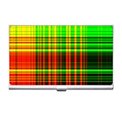 Line Light Neon Red Green Business Card Holders