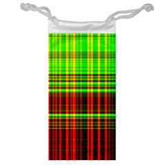 Line Light Neon Red Green Jewelry Bag