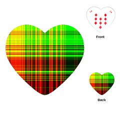 Line Light Neon Red Green Playing Cards (Heart)