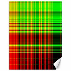 Line Light Neon Red Green Canvas 12  x 16