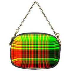 Line Light Neon Red Green Chain Purses (One Side)