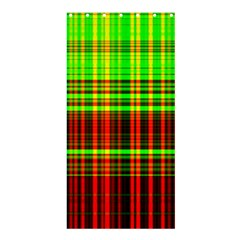 Line Light Neon Red Green Shower Curtain 36  x 72  (Stall)